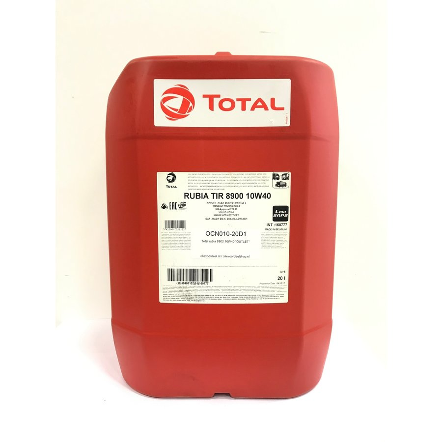 Rubia TIR 8900 10W-40, 20 lt (OUTLET)