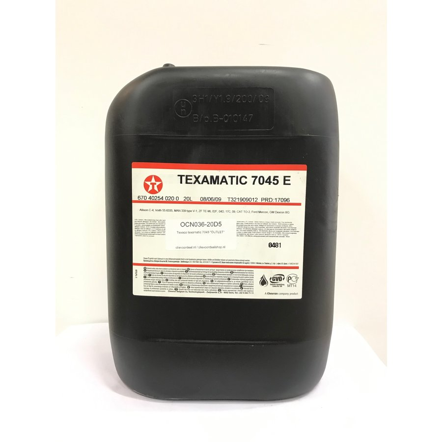 Texamatic 7045 E, 20 lt (OUTLET)