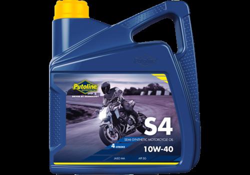 Putoline S4 10W-40 - 4-Takt motorolie, 4 lt