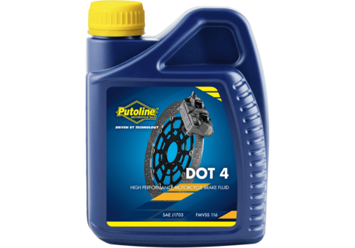 Putoline DOT 4 Brake Fluid - Remvloeistof, 500 ml