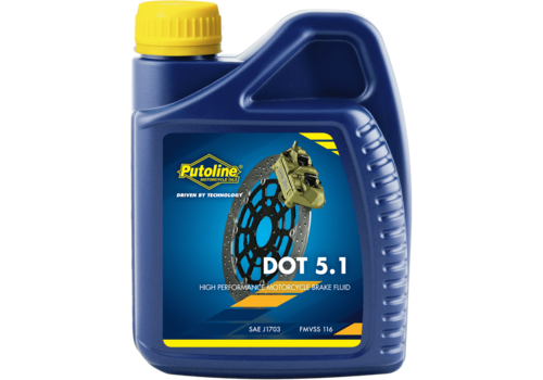 Putoline DOT 5.1 Brake Fluid - Remvloeistof, 500 ml