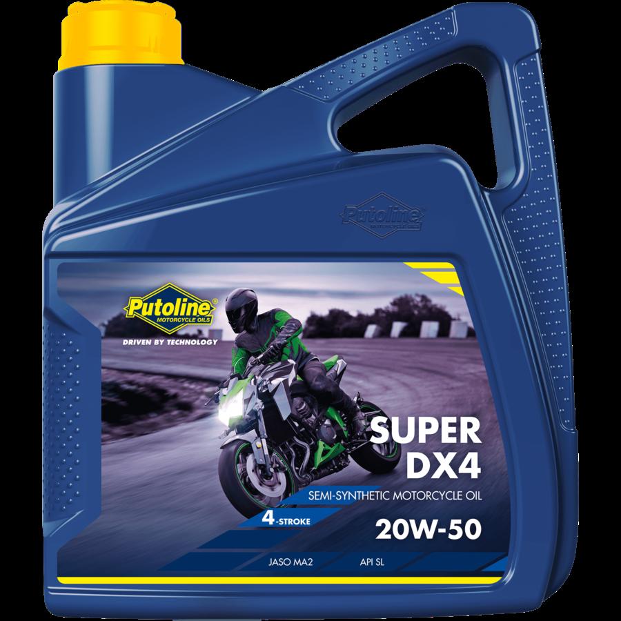Super DX4 20W-50 - 4-Takt motorfietsolie, 4 x 4 lt