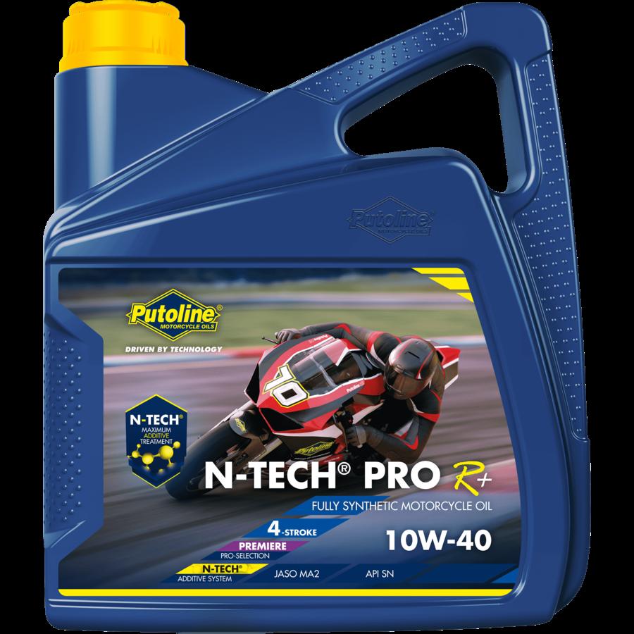 N-Tech® Pro R+ 10W-40 - Motorfietsolie, 4 x 4 lt