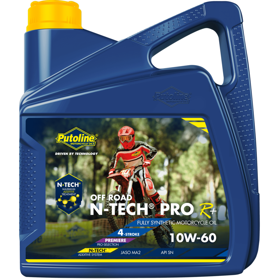 N-Tech® Pro R+ Off Road 10W-60 - Motorfietsolie, 4 x 4 lt