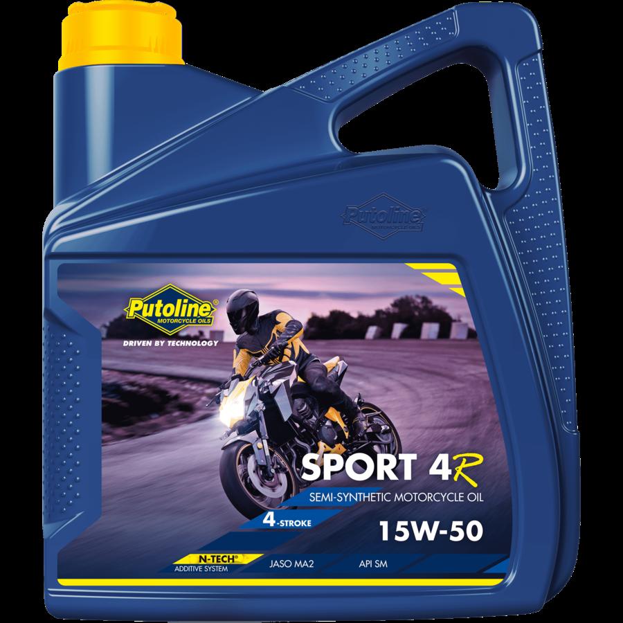 Sport 4R 15W-50 - 4-Takt motorfietsolie, 4 x 4 lt