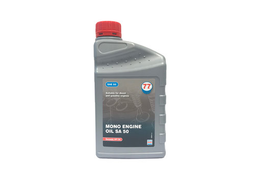 77 Lubricants Mono Engine Olie SA 50, 1 lt (OUTLET)