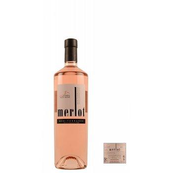 Les Vignerons du Roy Rene 2018 Vin de Pays de Méditerranée Merlot - Rosé