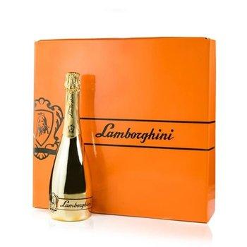 Lamborghini Prosecco Gold Spumante+ Gift Box + 2 sparkling glasses