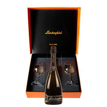 Lamborghini Prosecco Extra Dry D.O.C.  + Gift Box + 2 wine glasses