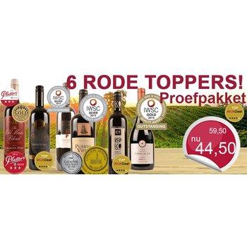 6 Rode Toppers! Proefpakket met super voordeel!
