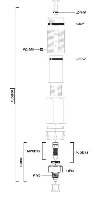 PJDI106 - Dichtingsset voor D07RE125