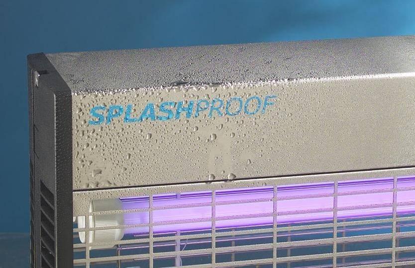 IPX4 with 2 UV-tubes of 36 Watt