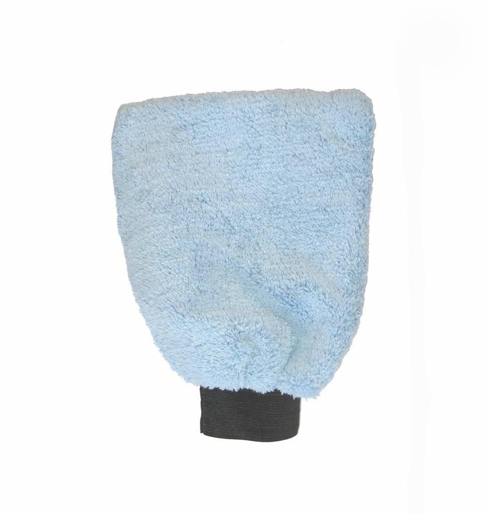 Gant de lavage microfibre Bleu