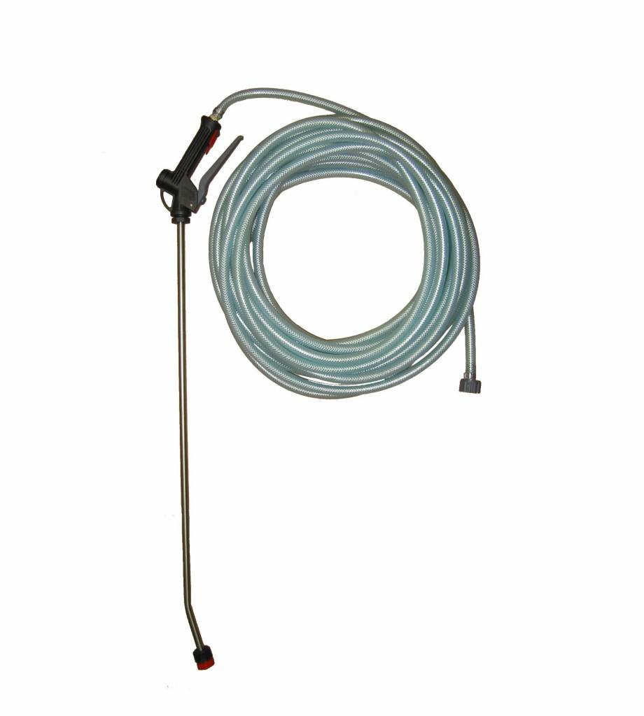 20 M slang met inox lans + koppelingen