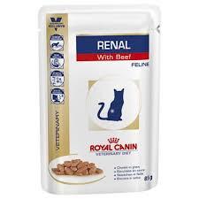 Royal Canin Royal Canin Renal Met Rundvlees Kat Maaltijdzakjes 12x85g