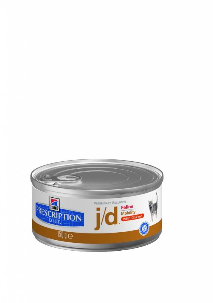Hill's Hill's Prescription Diet Feline j/d Minced with Chicken 24x 156gr