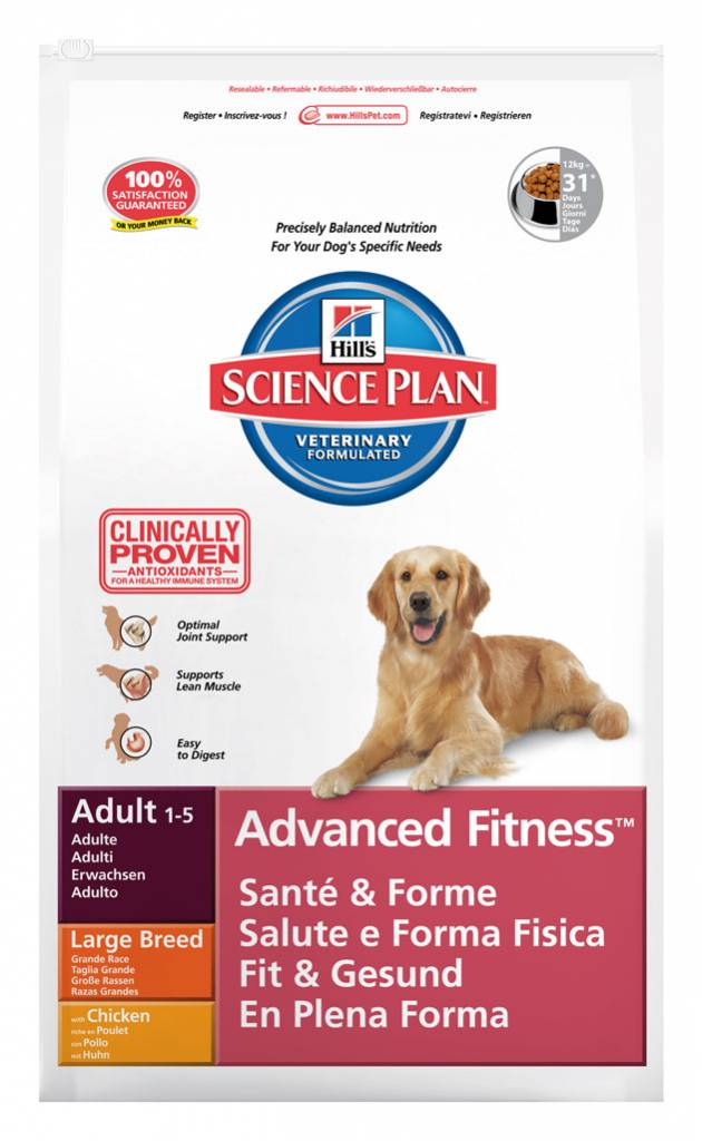 Hill's Hill's Science Plan Canine Adult Advanced Fitness Large Breed with Chicken 12kg