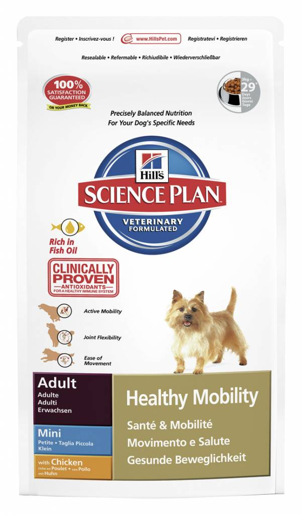 Hill's Hill's Science Plan Canine Adult Healthy Mobility Mini with Chicken 7,5kg