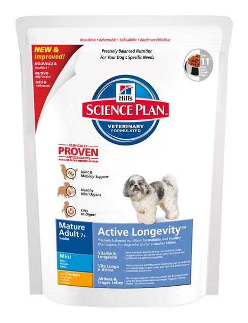 Hill's Hill's Science Plan Canine Mature Adult 7+ Active Longevity Mini with Chicken 1kg