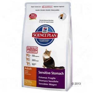 Hill's Hill's Science Plan Feline Adult Sensitive Stomach Chicken with Egg & Rice 5kg