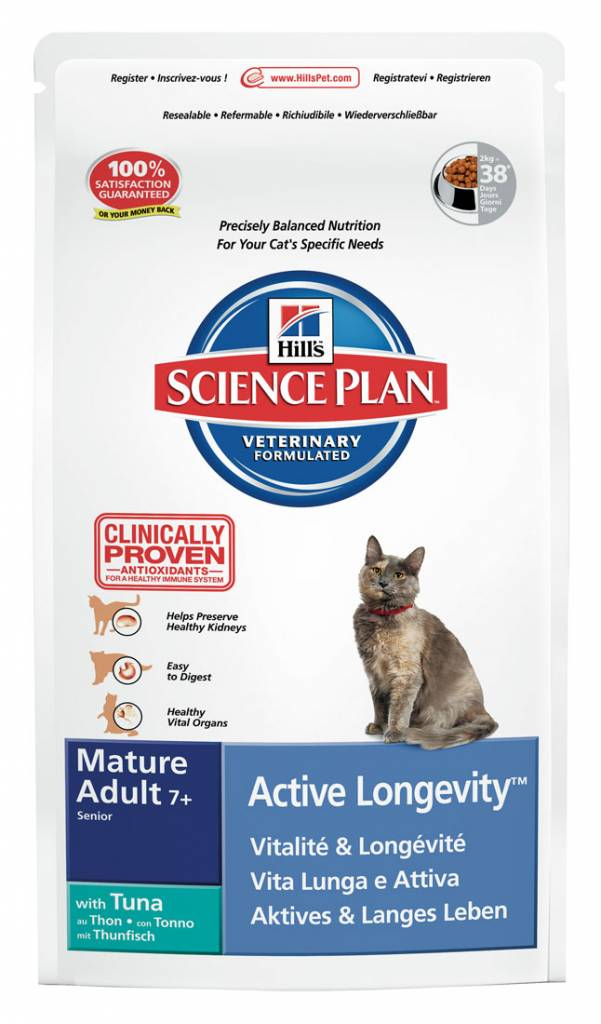 Hill's Hill's Science Plan Feline Mature Adult 7+ Active Longevity with Tuna 2kg