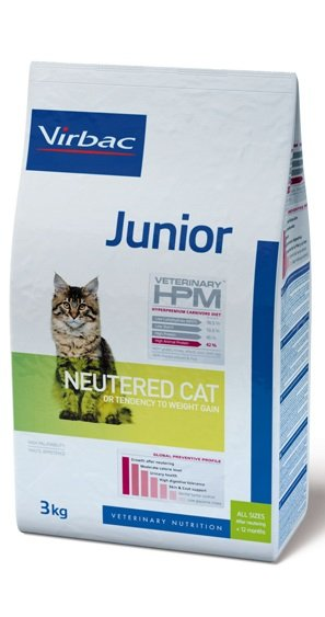 Virbac VIRBAC HPM JUNIOR NEUTERED CAT 3KG