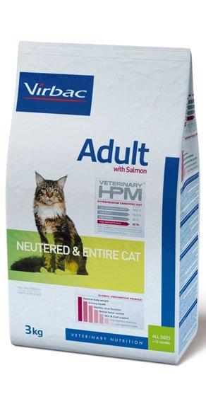Virbac VIRBAC HPM ADULT NEUTERED&ENTIRE CAT SALMON 1,5KG