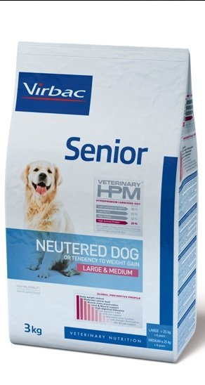Virbac VIRBAC HPM SENIOR NEUTERED DOG LARGE & MEDIUM 12KG