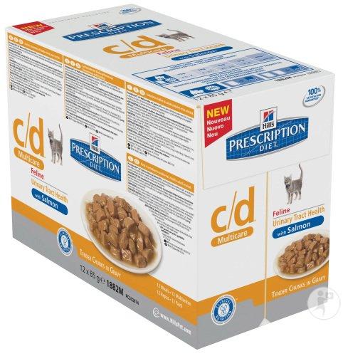 Hill's Hill's Prescription Diet Feline c/d Multicare Maaltijdzakjes Salmon 12x85 g