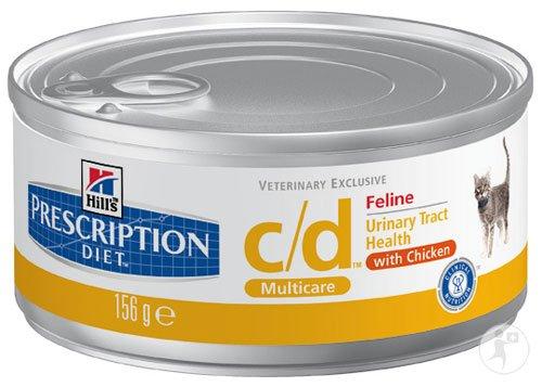 Hill's Hill's Prescription Diet Feline c/d Multicare Blikjes Chicken 24x156 g