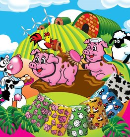 MILLPLEDGE VERBAND ZELFKLEVENDE WRAP TEKENING FUNNY FARM 5 CM