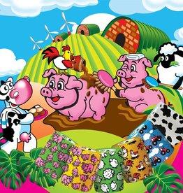 MILLPLEDGE VERBAND ZELFKLEVENDE WRAP TEKENING FUNNY FARM 10 CM