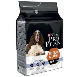 PURINA PROPLAN PURINA PROPLAN HOND ADULT 7+ OPTIAGE MEDIUM & LARGE BROKKEN 14 KG
