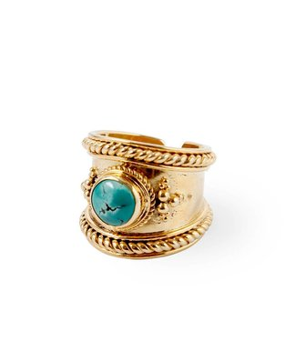 Route508 Gold Plated Ring Bohème | Turquoise
