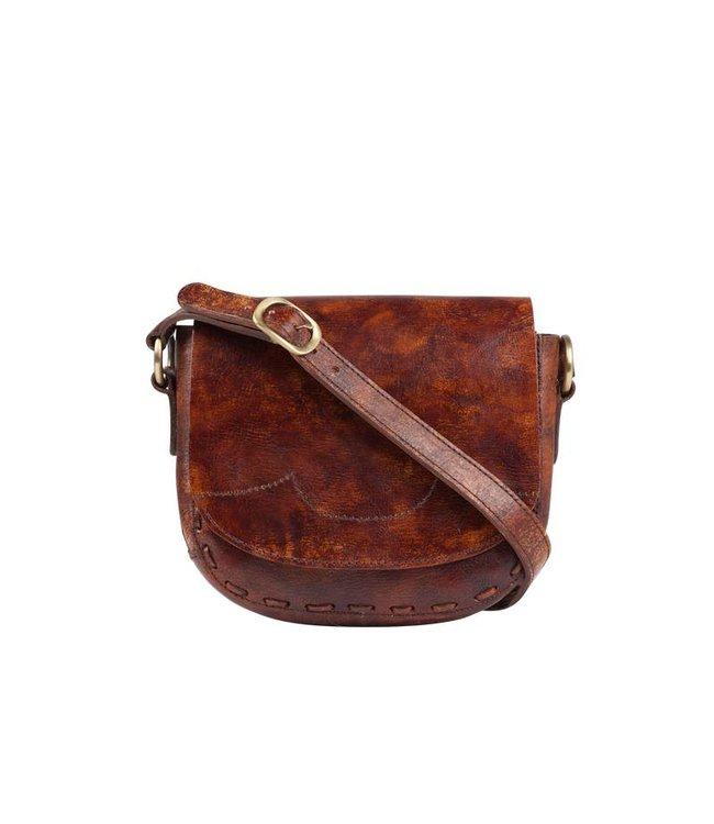 Vintage Leather Crossbody Bag with Bucket Bag Design - Route508