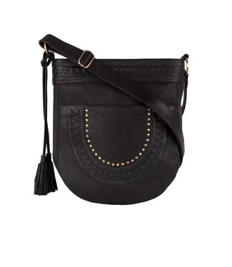 Route508 Leather Crossbody Bag Zella |  Black