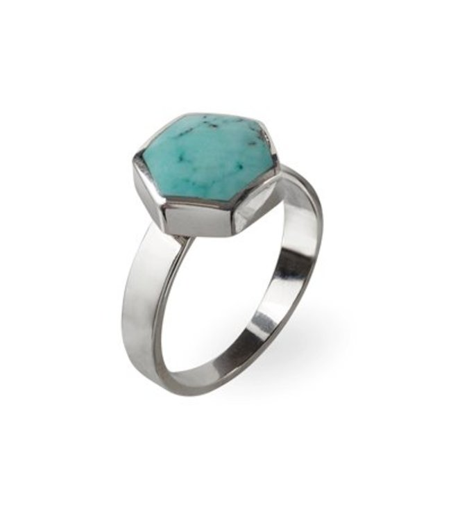 Route508 Turquoise Ring Aria | Zilver