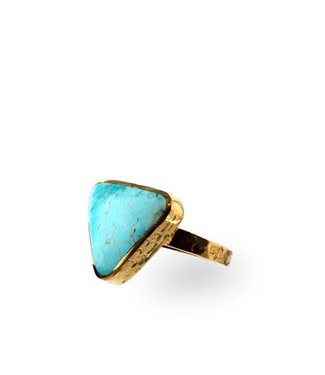 Route508 Gold Ring Skye | Turquoise