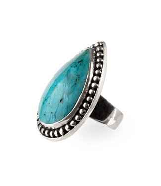 Route508 Zilveren Turquoise Ring Aurora