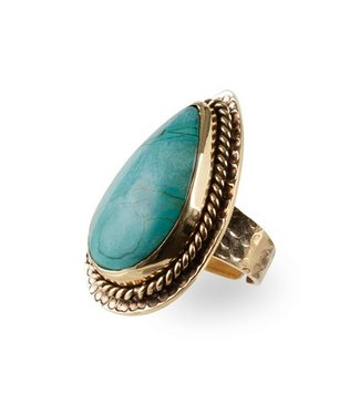 Route508 Gold Ring Delilah | Turquoise