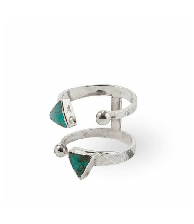 Route508 Zilveren Turquoise Ring Ryder