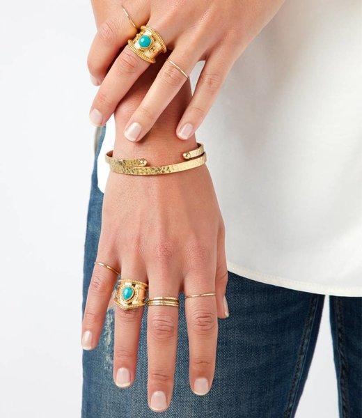 Twee Stapelringen, twee ringen & Luna armband - Set