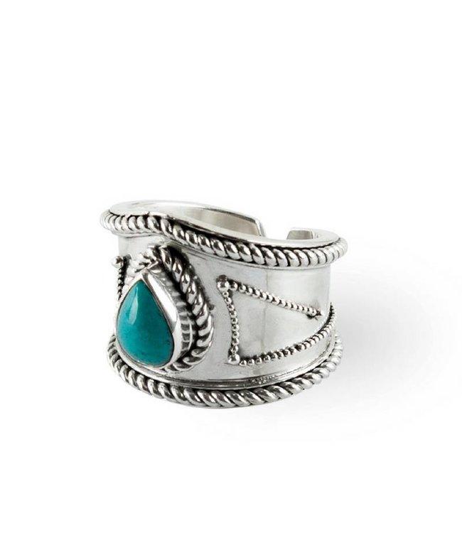 Route508 Zilveren Turquoise Ring Amalia