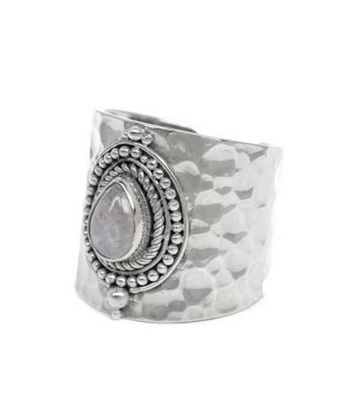 Route508 Silver Ring Sheila | Rainbow Moonstone