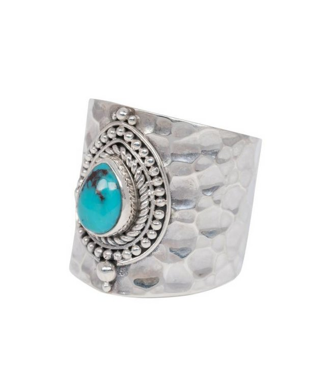 Route508 Zilveren Turquoise Ring Sheila