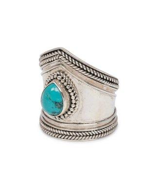 Route508 Zilveren Turquoise Ring Elvira