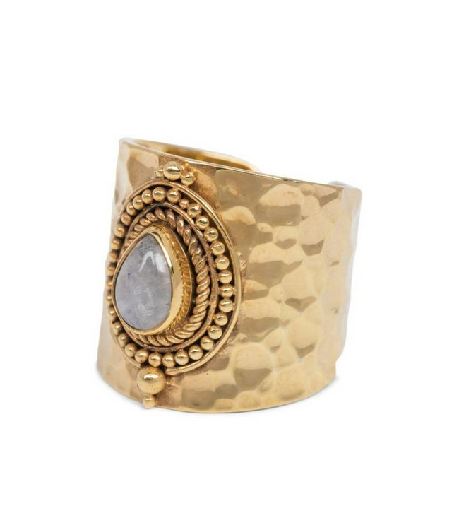 Route508 Gold Plated Moonstone Ring Sheila