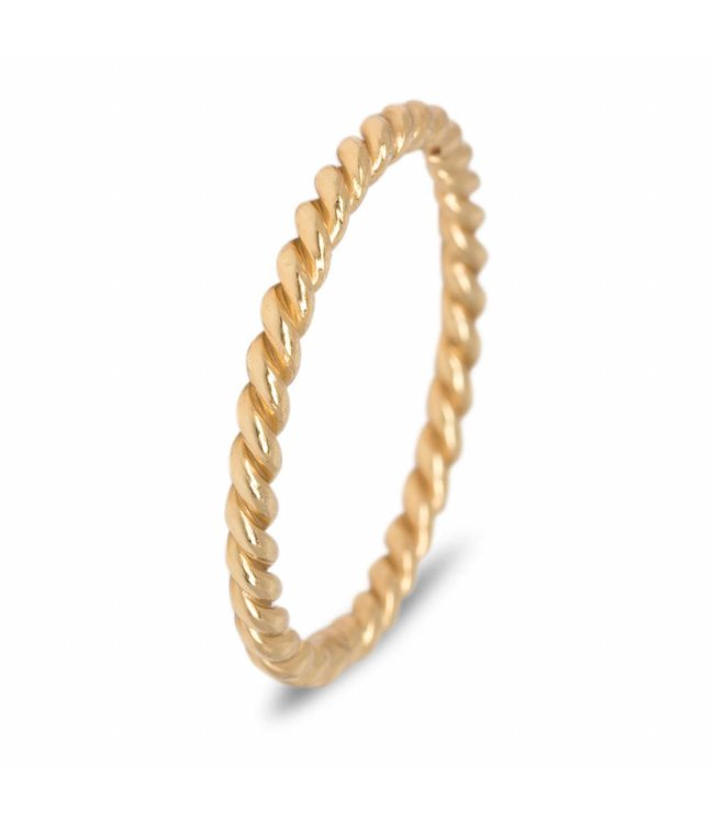 Route508 Gold plated stackring Twisted