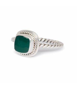 Route508 Sterling Silver Ring Isabeau with Green Onyx Gemstone