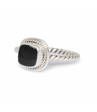 Route508 Zilveren Zwarte Onyx Ring Isabeau